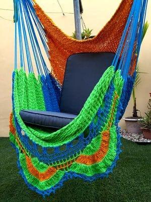silla hamaca tres colores