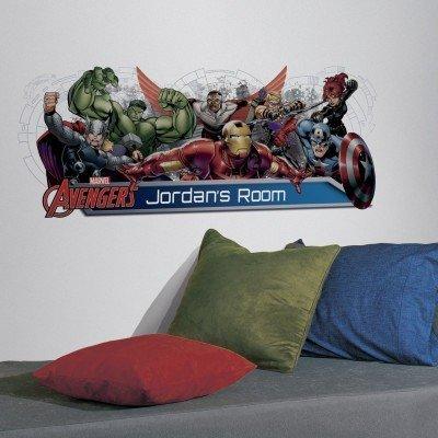 vinilo avengers con nombre - tienda online con decoración
