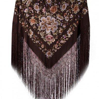 Mantón de seda café regalos tienda online de decoración