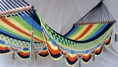 hamaca multicolor azulm