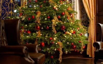 Decoracion del arbol de Navidad