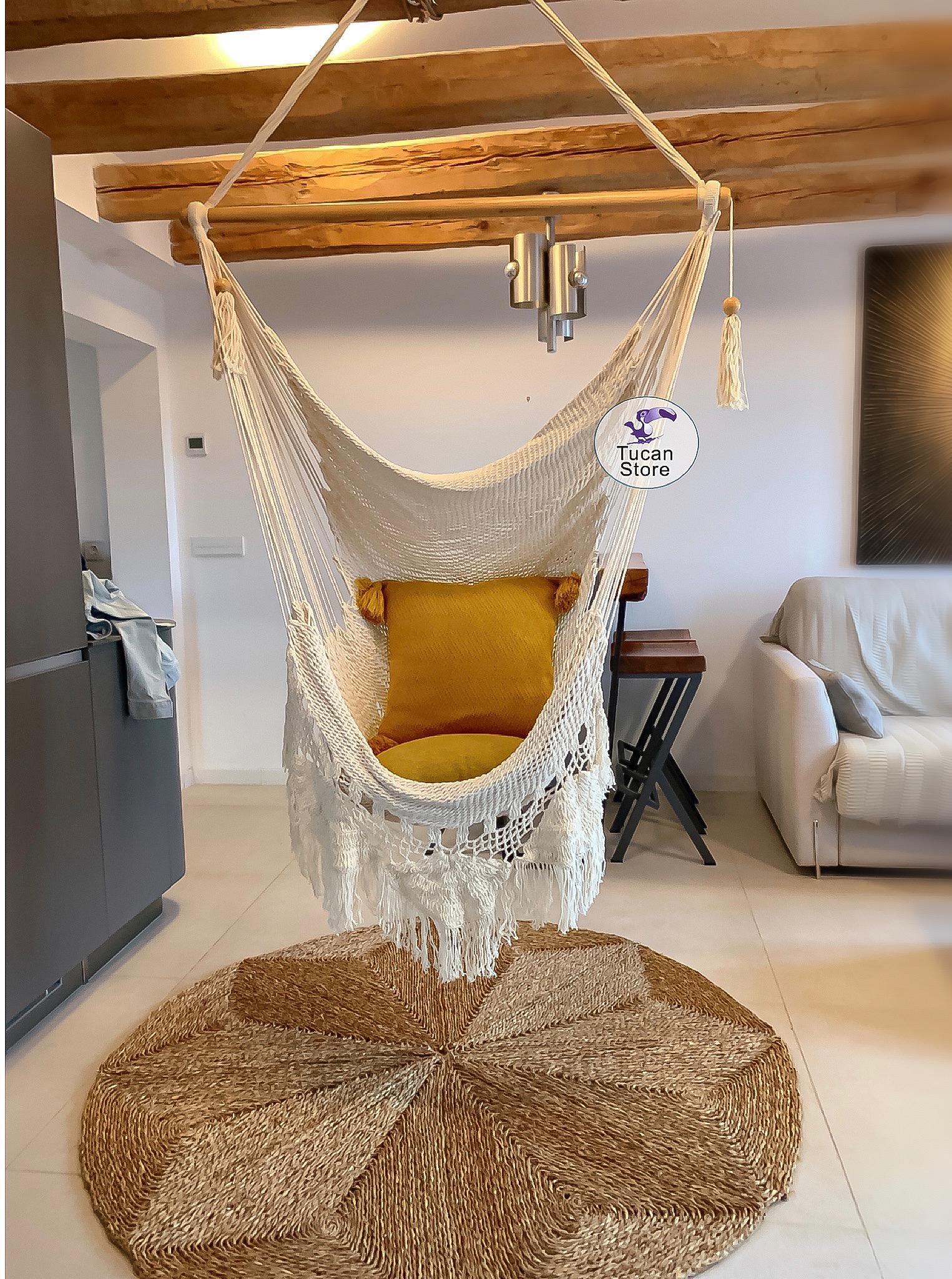 silla hamaca algodón