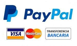 métodos de paga paypal visa mastercard transferencia