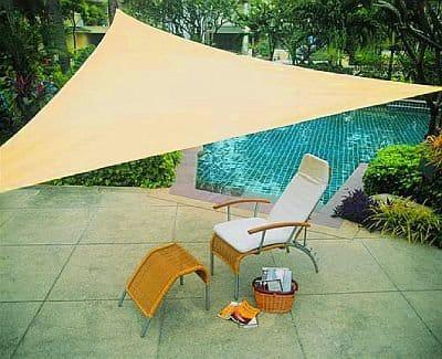 toldo beige piscina decoración para jardín