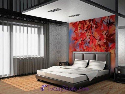 Foto mural hojas otoño
