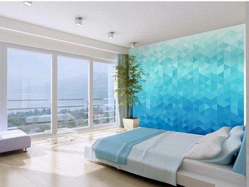 Foto mural pixel azulado