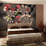 Foto mural Floral Gris