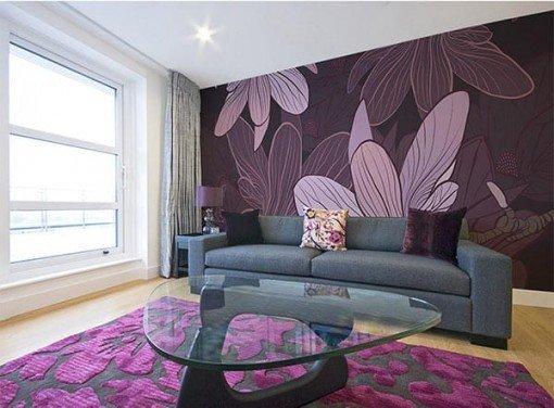 Foto mural flores lilas