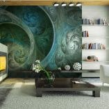 Foto mural espirales verdes