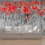 Foto mural flores rojas