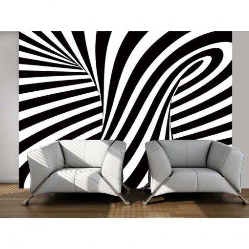 Foto mural rayas blanco y negro