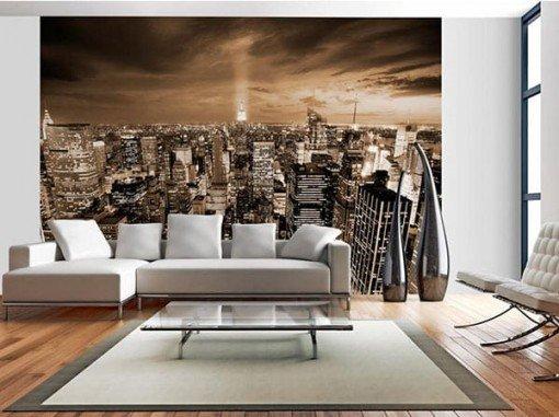 Foto mural NY noche