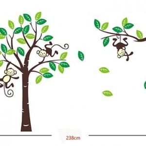 Vinilo de arboles y monos