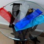 Bolsa de tela para abanico varios colores
