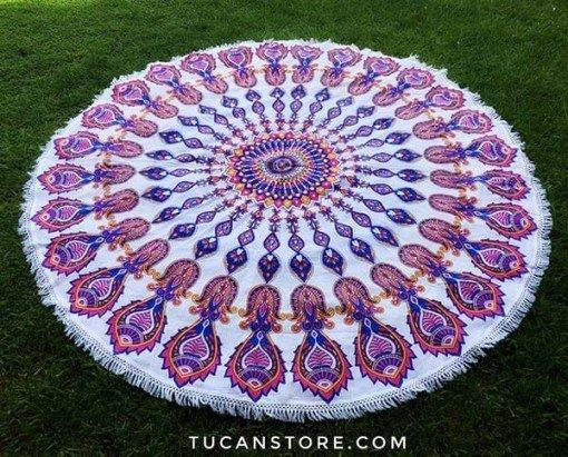Mandala rosada lila XL