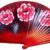 Abanico rojo con flores grandes regalos tiendas online