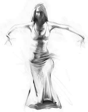 Bailadora de Flamenco