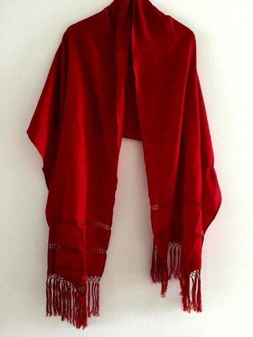 Chal rojo mediano regalos tienda online de decoración