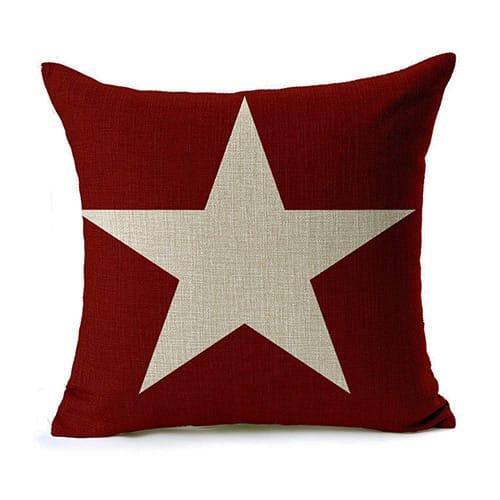 Cojin estrella roja