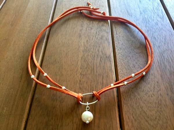 Gargantilla perla y plata 1