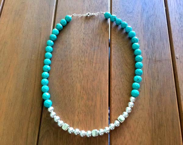 Collar turquesa y plata 1