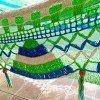 Hamaca celeste y verde