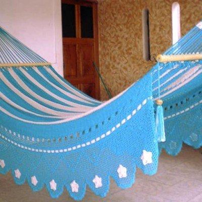 Hamaca celeste especial fleco estrellas regalos tienda online de decoración