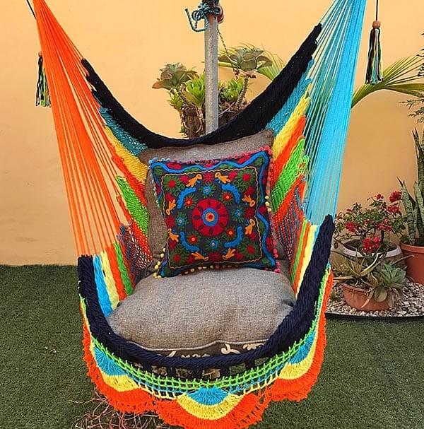 silla hamaca multicolor
