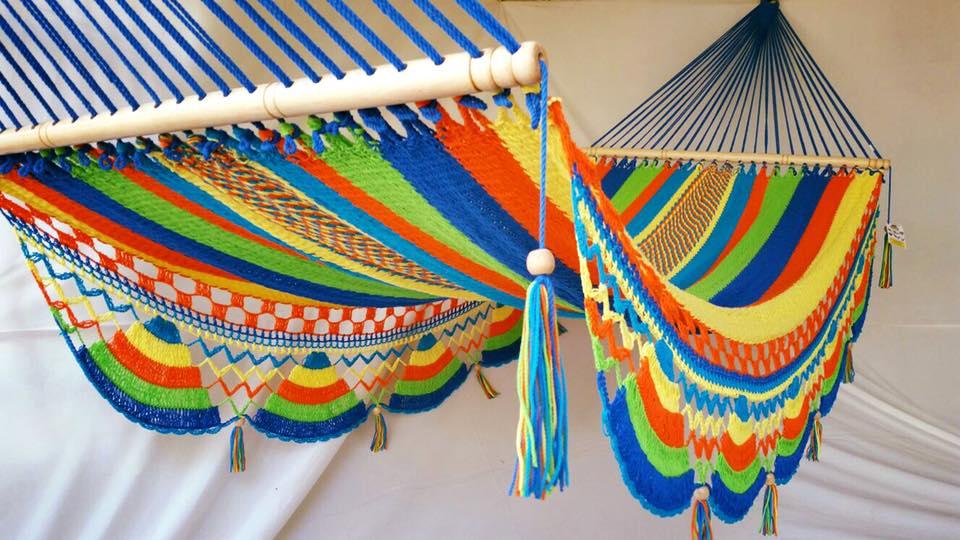 Hamaca multicolor fleco zig zag 1