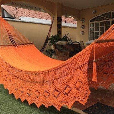 Hamaca naranja bordado lujo