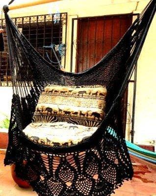silla hamaca fleco de lujo