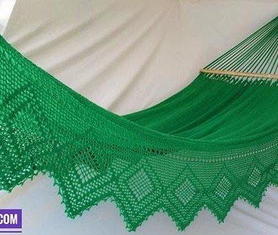 Hamaca verde bordado lujo