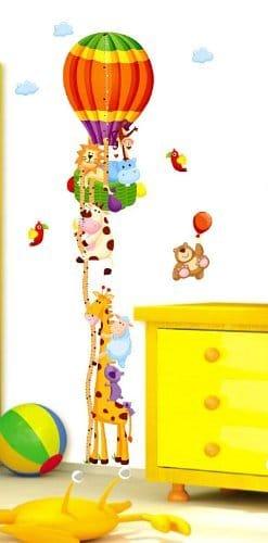Vinilo de jirafa y animales para medir