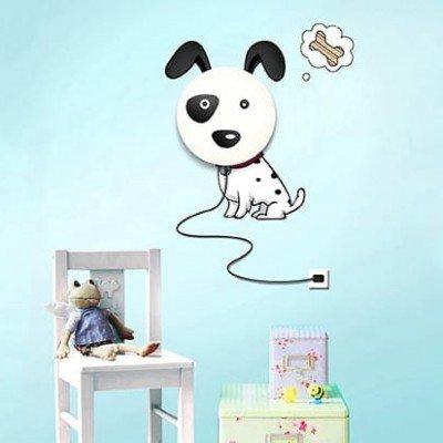 Lámpara con Vinilo de perro regalos tienda online de decoración