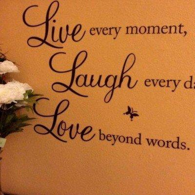 Vinilo Live Laugh Love regalos tienda online de decoración