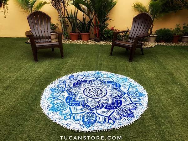 Mandala celeste y azul