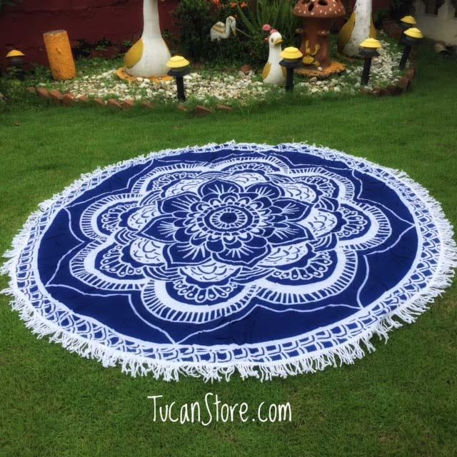 Mandala Redonda azul 1