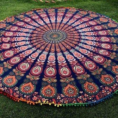 Mandala Redonda toalla regalos tienda online de decoración