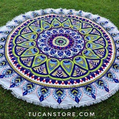 Mandala verde lila XL regalos tienda online de decoración