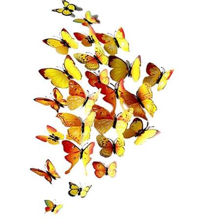 Set de mariposas decorativas con iman y pegamento