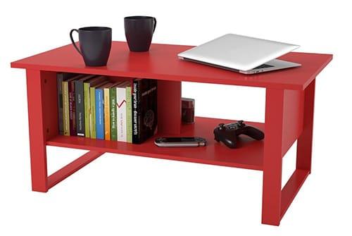 Mesa de centro roja