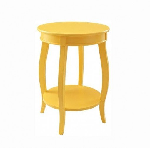 Mesa amarilla madera