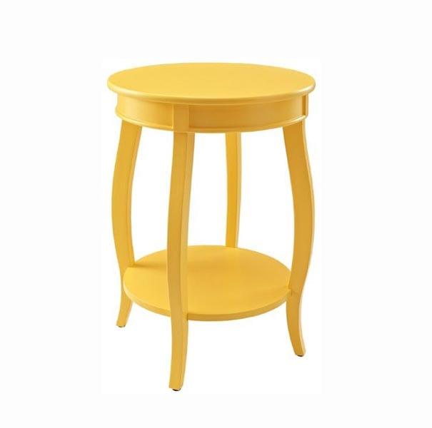 Mesa amarilla madera 1