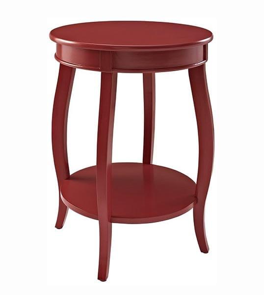 Mesa roja madera 1