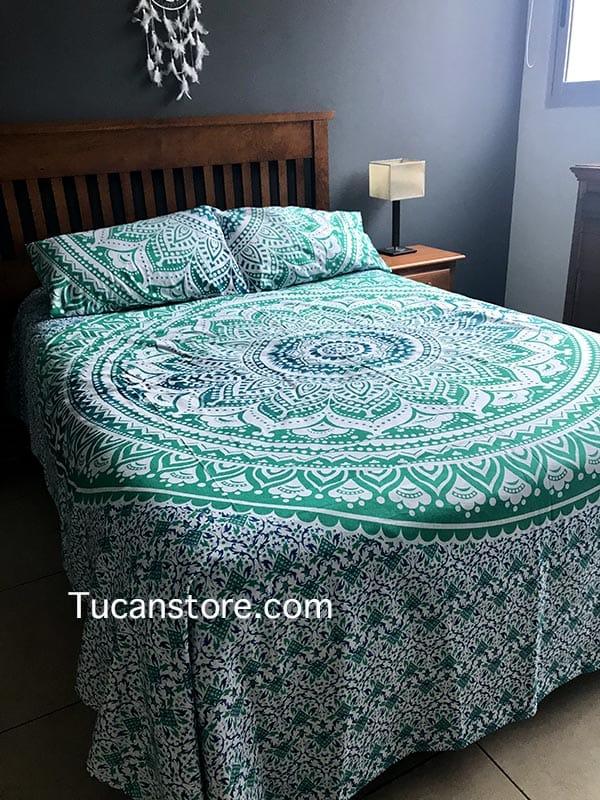 duvet cover king verde aqua
