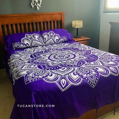 Duvet Cover Queen mandala morada tienda online de decoración