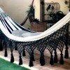 Hamaca elegante blanca y negra lujo - tienda online de decoración