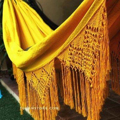 hamaca elegante amarillo mostaza