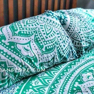 funda de almohada verde aqua king tienda de decoración