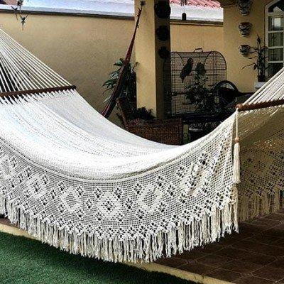 hamaca elegante especial fleco brasileño - tienda de decoración